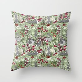 Buns in the Sun Throw Pillow