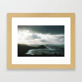 Cape Cornwall stormy Framed Art Print