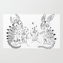 Magic night creatures Rug