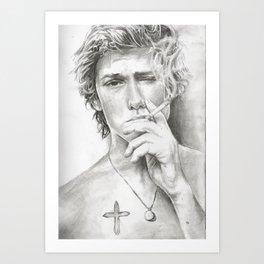 Alex Pettyfer Art Print