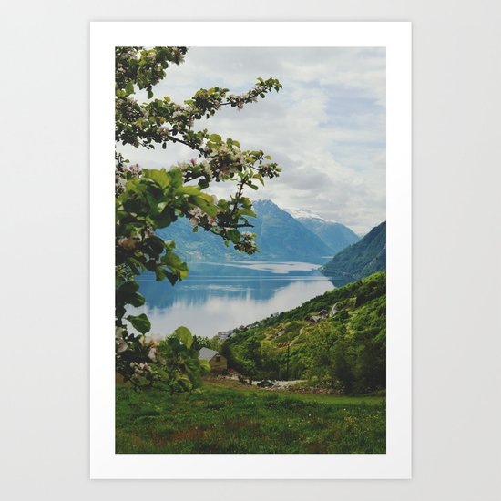 vikebygd, norway Art Print