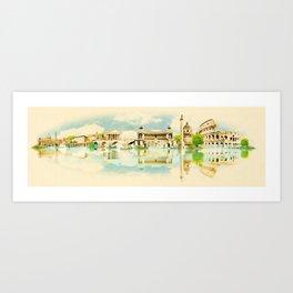 panoramic rome Art Print