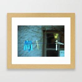 Clothesline Love Framed Art Print