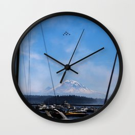 Angels Over Rainier Wall Clock