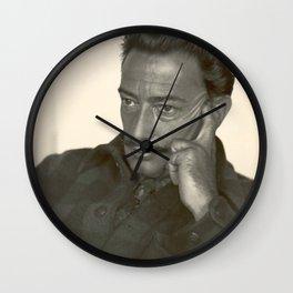 Salvador Dali old photo Wall Clock