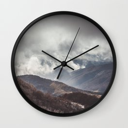 Waiting for the sun - Landscape and Nature Photography Wall Clock