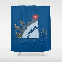 Rudolph Shark Shower Curtain