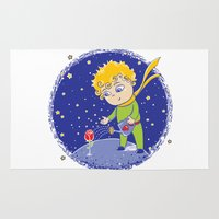 the little prince Area & Throw Rugs featuring Little Prince by Bruna Sousa