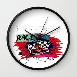Go Kart Racing Motorsports Cool Race Sports Gift Wall Clock