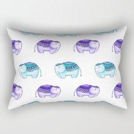 Purple and Blue elephants Rectangular Pillow