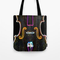cello Tote Bags featuring Cello by J.Lauren