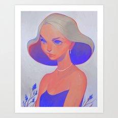 neon - zaffre Art Print