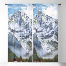 Jungfrau mountain. Swiss Alps Blackout Curtain
