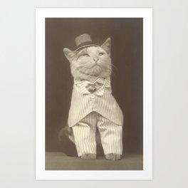 Bespoke cat Art Print