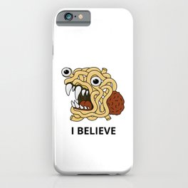 The flying spaghetti monster iPhone Case