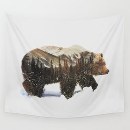 Arctic Grizzly Bear Wall Tapestry