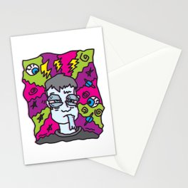 MIGRAINE (SELF-PORTRAIT OF THE ARTIST WITH A MIGRAINE) Stationery Cards