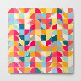 Bright Maximalist Shapes Pattern 103 Metal Print