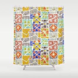 Barcelona tiles Shower Curtain