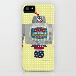 pete 50s retro robot iPhone Case