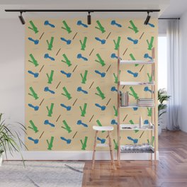 Bongs, Blunts, Joints Pattern Wall Mural
