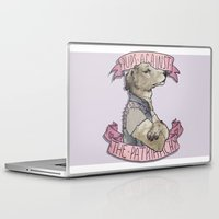 patriarchy Laptop & iPad Skins featuring Pups against the Patriarchy  by cyrrs