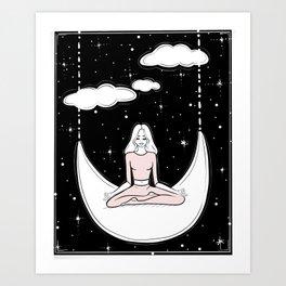 Moonlight Meditation Art Print