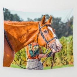 Horse head photo closeup Wall Tapestry