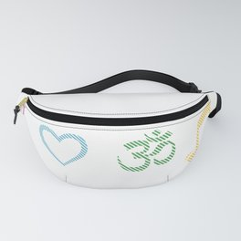 Om meditation goa psytrance Gift Idea Fanny Pack