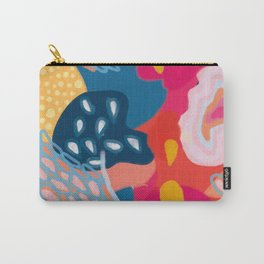 Abstract Bright Coral Seascape  Carry-All Pouch