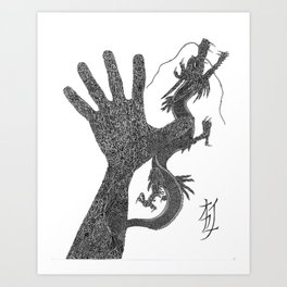 Ryu the Hand Art Print