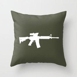 M4 Assault Rifle Throw Pillow