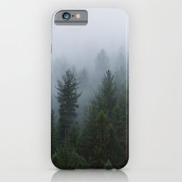 Into the Deep, Foggy, Forest iPhone Case