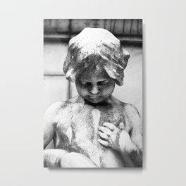 Cherub Statue in Buenos Aires Metal Print
