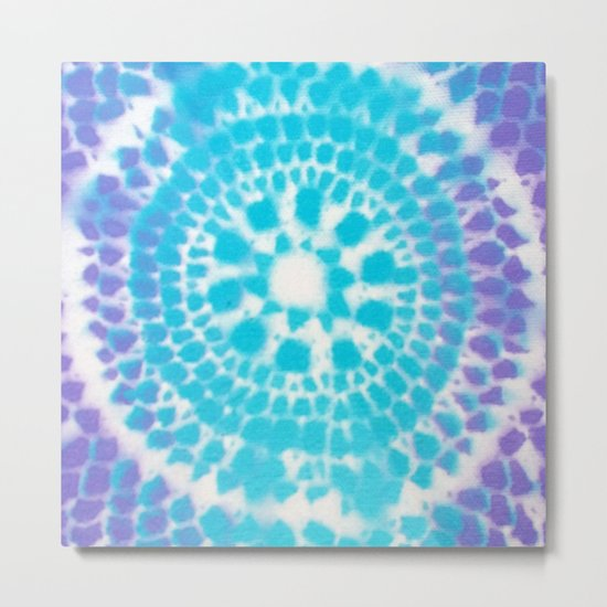 Scale Mandala Pattern Metal Print