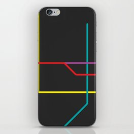 busan metro map iPhone Skin