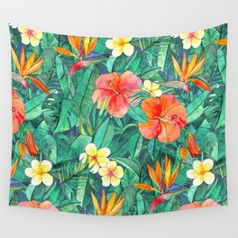 Classic Tropical Garden Wall Tapestry