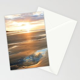 Romantic sunset on the beach of St Malo (Brittany, France). Stationery Cards