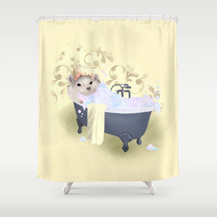 Little Sunshine Bubble Bath Shower Curtain