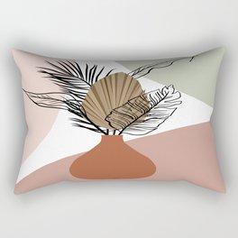 Terracotta Pots Print,Modern Bohemian Wall Art,Tropical Leaf Illustration,A  Rectangular Pillow