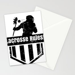 Lacrosse Rules! LAX Sport G.O.A.T Lacrosse Player Lacrosse Game ReLAX Steeze Stationery Cards