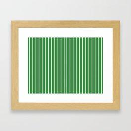 Holiday Hexies Green Stripe Framed Art Print