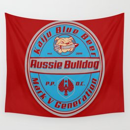 Aussie Bulldog beer Wall Tapestry