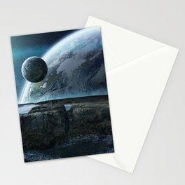 Wonderful Idyllic Alien Extraterrestrial Planet System Constellation Ultra HD Stationery Cards