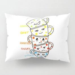 morning coffee moods Pillow Sham