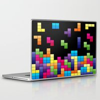 tetris Laptop & iPad Skins featuring Tetris Troubles. by Digi Treats 2