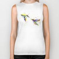 hummingbird Biker Tanks featuring Hummingbird  by Slaveika Aladjova