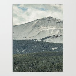 Rocky Mountain Snow Dusting Poster