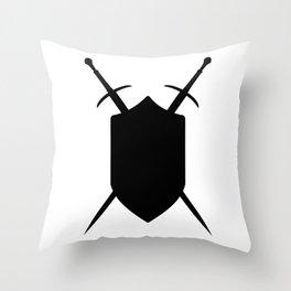 Crossed Swords Silhouette Throw Pillow