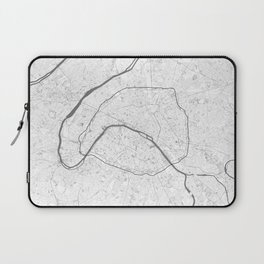 The Map of Paris Line Drawing Laptop Sleeve